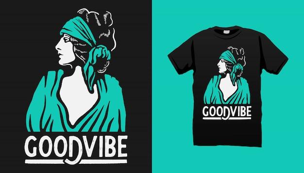 Gipsy woman t-shirt design mit zitaten