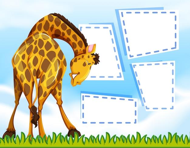 Giraffe auf hinweis vorlage