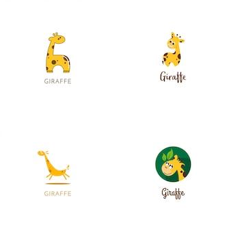 Giraffe-logo-sammlung