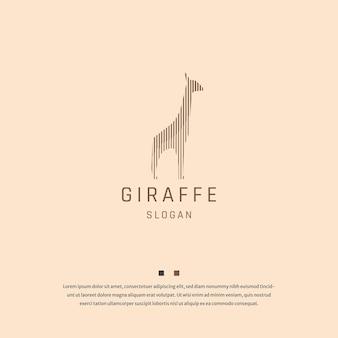 Giraffe tier logo icon design vorlage flacher vektor
