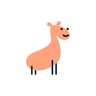 Giraffe. vektorlogo im fetten linienstil