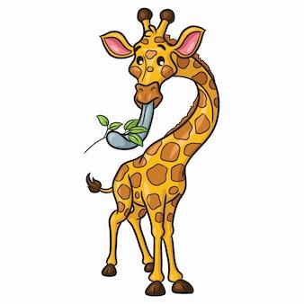 Giraffen-cartoon niedlich