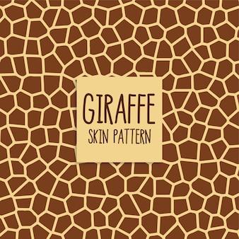Giraffenhautmuster in der braunen farbe