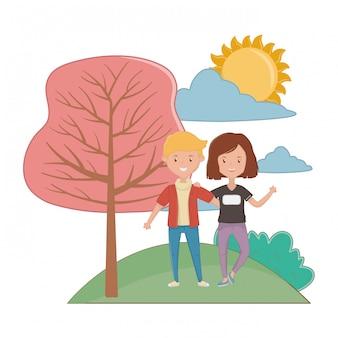 Girl and boy friendship design