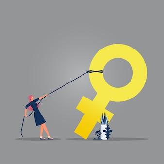 Girl powerfemales empowerment bewegung und feminismus konzept