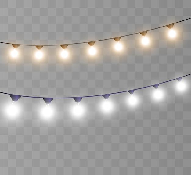 Girlande aus hellen lichtern vorlage für vektorillustrationen