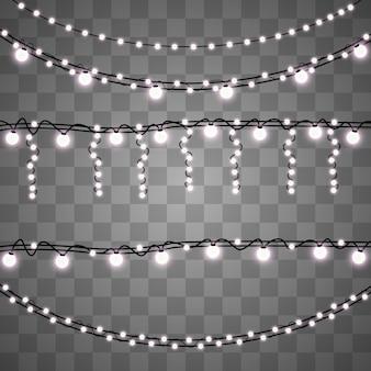 Girlande licht auf hintergrund isoliert.