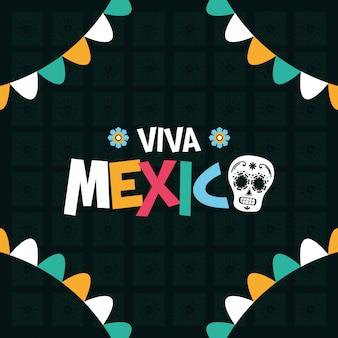 Girlanden für viva mexico