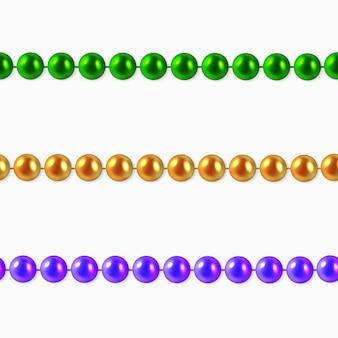 Girlanden mit perlen oder schmuck