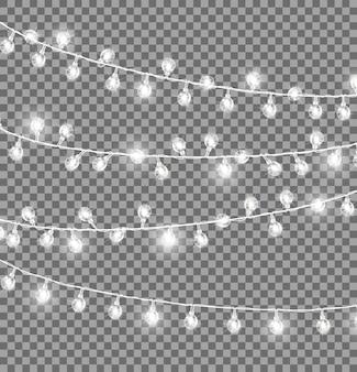 Girlanden mit runden glühbirnen