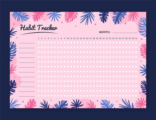 Girly habit tracker vorlage