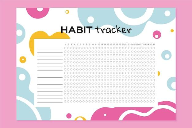 Girly habit tracker vorlage Kostenlosen Vektoren