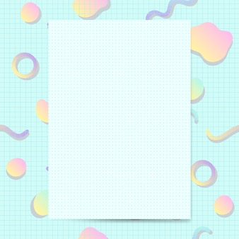 Girly pastellkartenmodellvektor