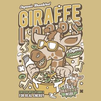 Girrafe-schleifen-cartoon