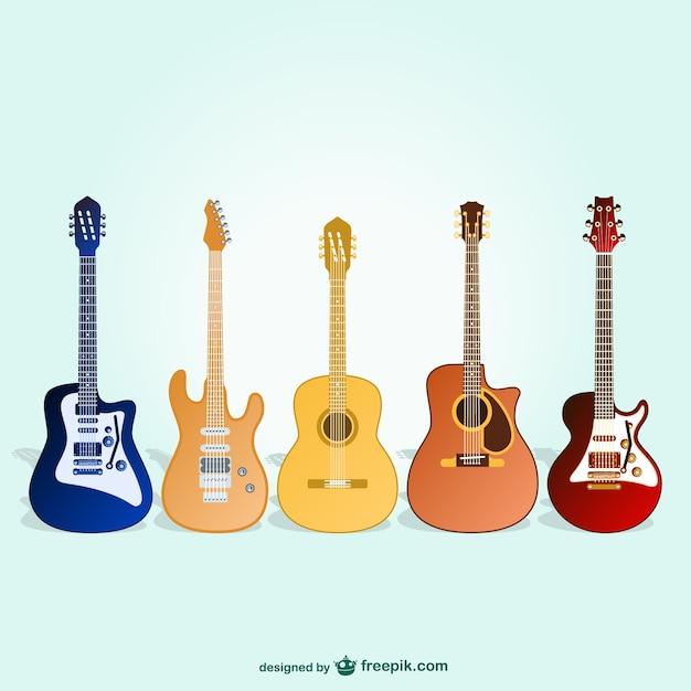 Gitarren freien vektor-pack