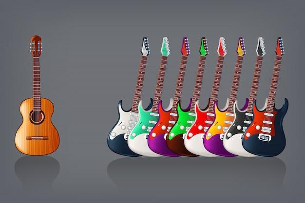 Gitarrenbild Premium Vektoren
