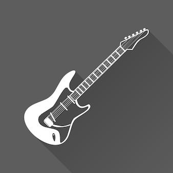 Gitarrenikonenillustration, musikmuster. kreatives und luxuriöses cover