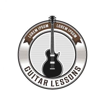 Gitarrenlogo-abzeichen