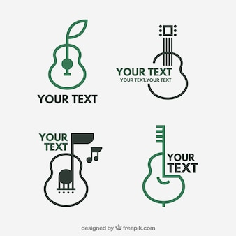 Gitarrenlogo kollektion birne desig
