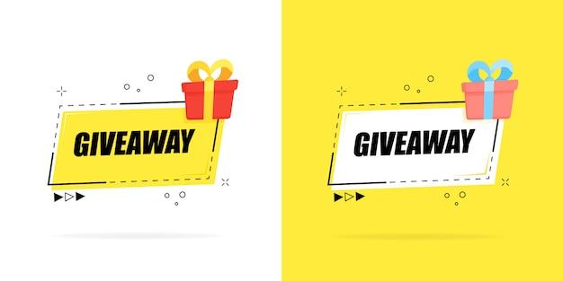 Giveaway gewinner poster vorlage für social media posting oder website