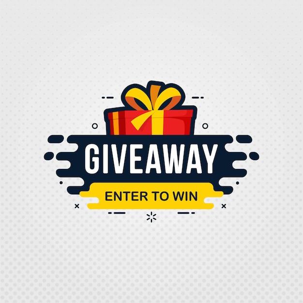 Giveaway und teilnahme, um eine designvorlage für bannerschilder zu gewinnen