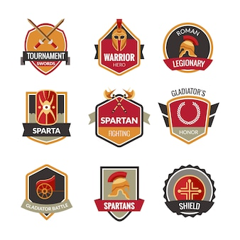 Gladiator embleme set