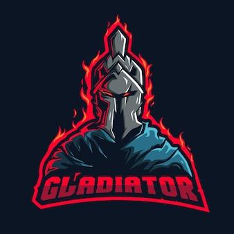 Gladiator-maskottchen-logo