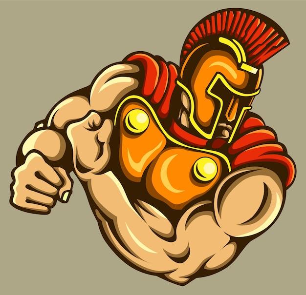 Gladiator-maskottchen