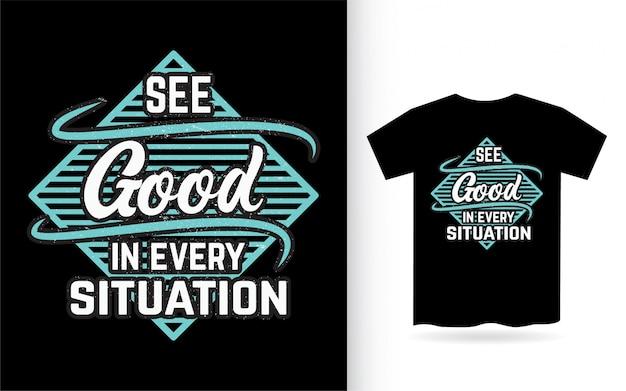 Glänzen sie, weil das ist, wen sie design für t-shirt beschriften