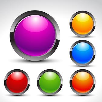 Glänzend web buttons vektor festgelegt