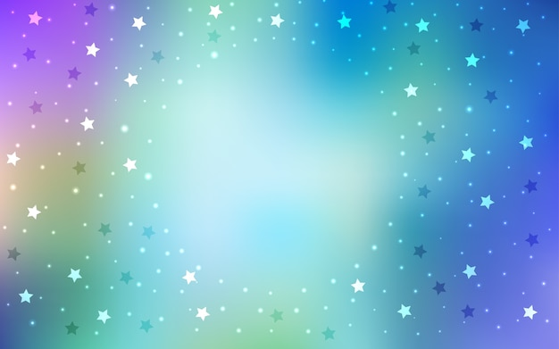 Glänzende farbige illustration mit sternen