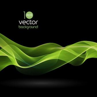 Glänzende farbwellen über dunklen vektorhintergründen