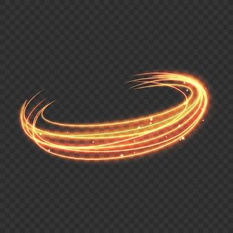Glänzende goldene abstrakte linien
