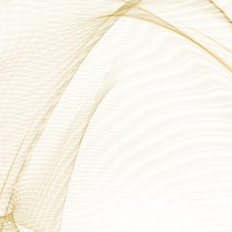 Glänzende goldene linien über weißem hintergrund.