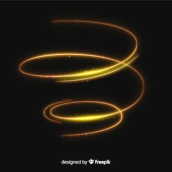 Glänzende goldene spirale realistischen stil