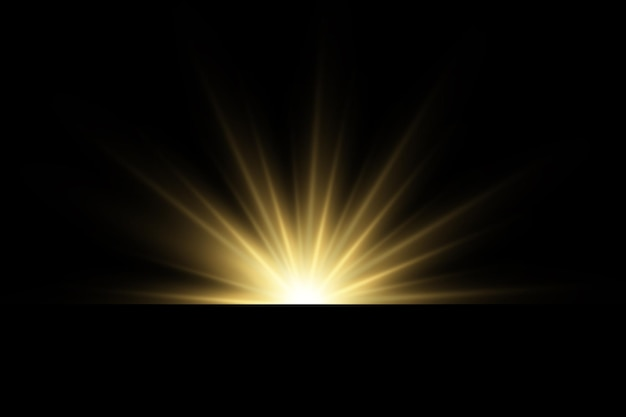 Glänzende goldene sterne lichteffekte blendung glitzer explosion goldenes licht vektor-illustration