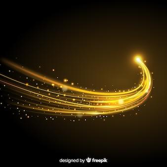 Glänzende goldene welle backgound