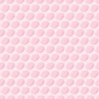 Glänzende herzen formen rosa farben hintergrund nahtloses muster