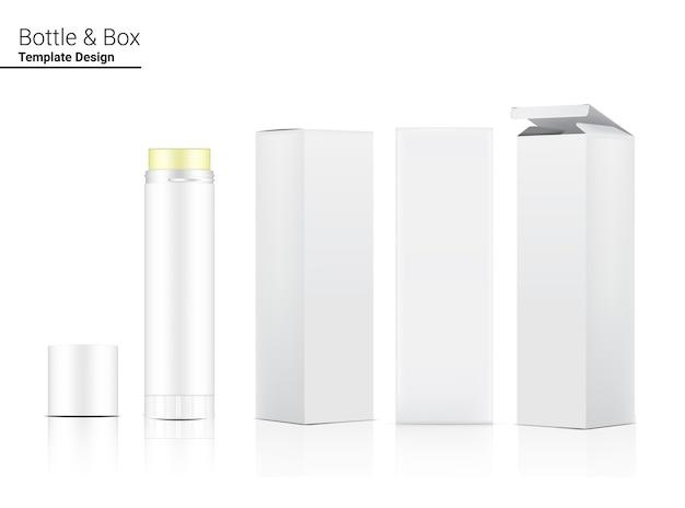 Glänzende lippenstift tube oder foundation make-up