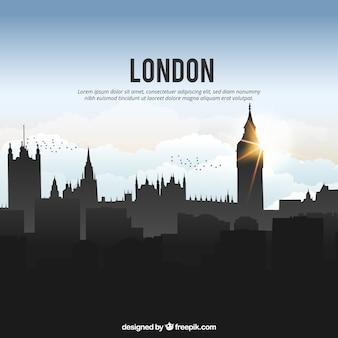 Glänzende london skyline