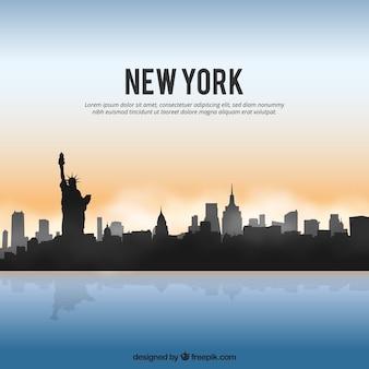 Glänzende new york skyline