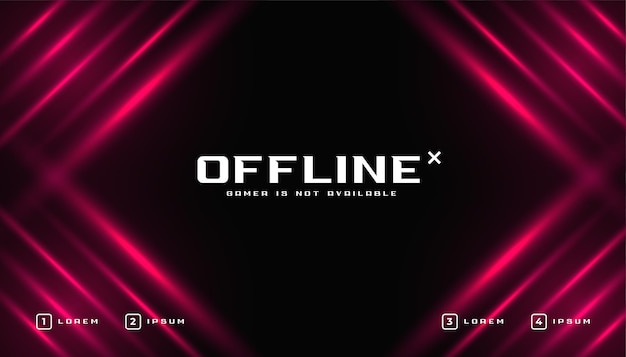 Glänzende offline-gaming-banner-vorlage