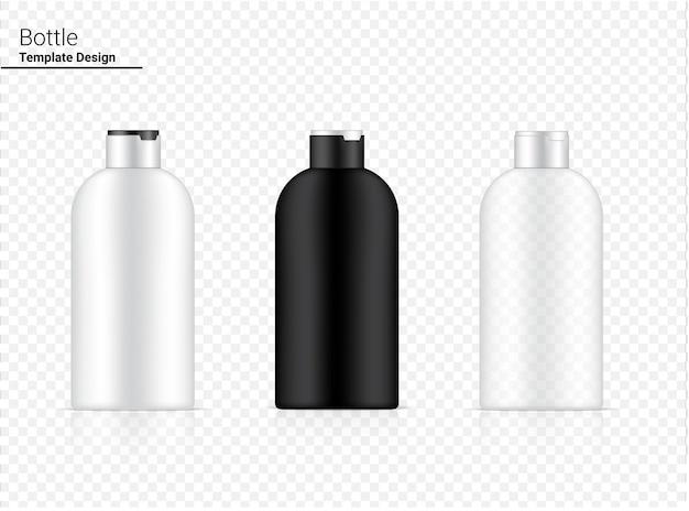 Glänzende pumpflasche transparent