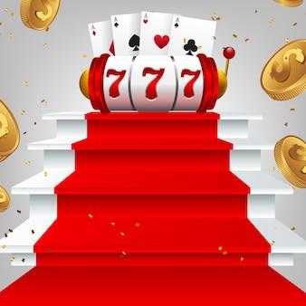 Glänzende retro-zeichen jackpot-banner