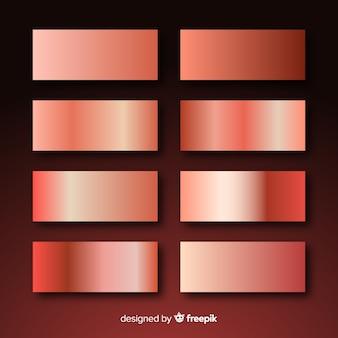 Glänzende rosengold-gradientensammlung