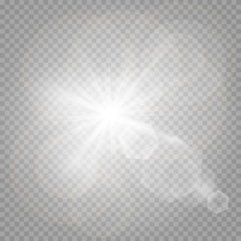 Glänzende sterne und glänzende blendung