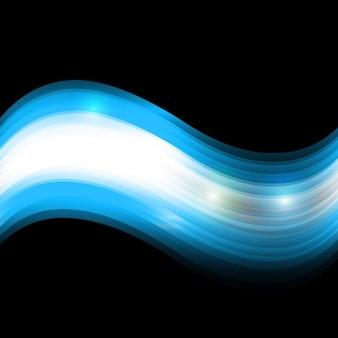 Glänzenden blauen wellen