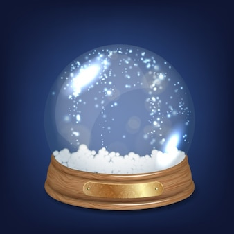 Glänzenden kristall schneeball