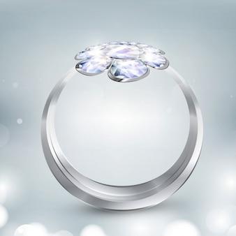 Glänzenden ring hintergrund