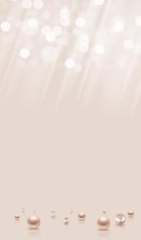 Glänzender abstrakter hintergrund mit realistischen perlen und licht